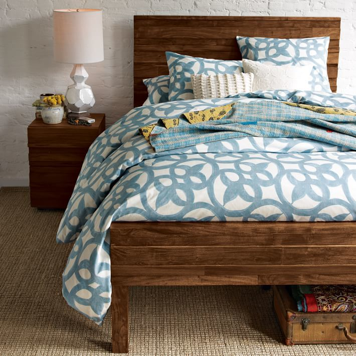west elm Organic Ironwork Duvet Cover + Shams