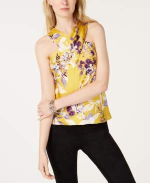 INC International Concepts I.n.c. Printed Floral Halter Top, Created for Macy's