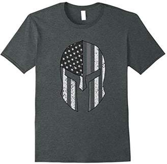 American Flag Warrior Helmet Corrections Officer T-Shirt