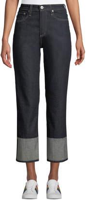 AG Jeans The Rhett Vintage High-Rise Straight-Leg Jeans