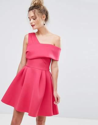 Miss Selfridge Cross Front Bardot Scuba Prom Dress