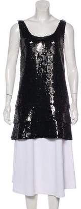 Philosophy di Alberta Ferretti Embellished Sleeveless Tunic