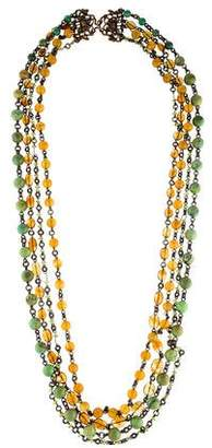 Stephen Dweck Multistone Multistrand Necklace
