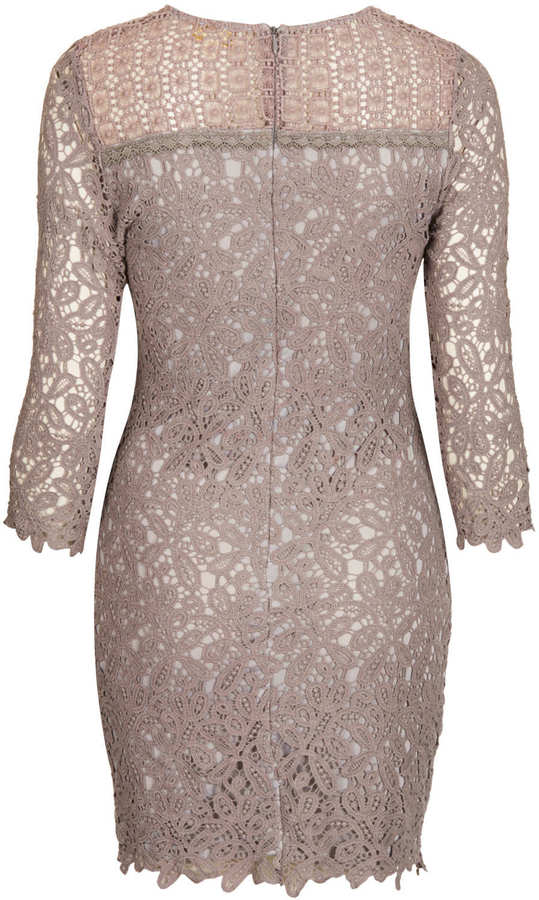 Topshop **Crochet Lace Bodycon Dress by Goldie