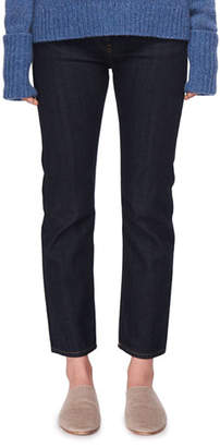 The Row Ashland Slim-Leg Ankle Jeans, Indigo