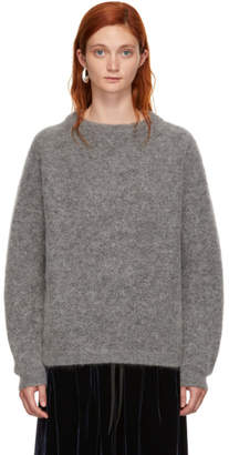 Acne Studios Grey Wool Dramatic Sweater