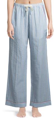 Neiman Marcus Morgan Lane Chantal Striped Seersucker Pajama Pants