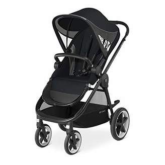 CYBEX Gold Balios M Pushchair, With Reversible Comfortable Seat and Baby Safety Bar, Lavastone Black