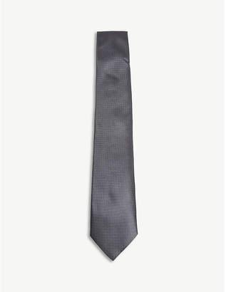 Corneliani Birdseye print silk-tie