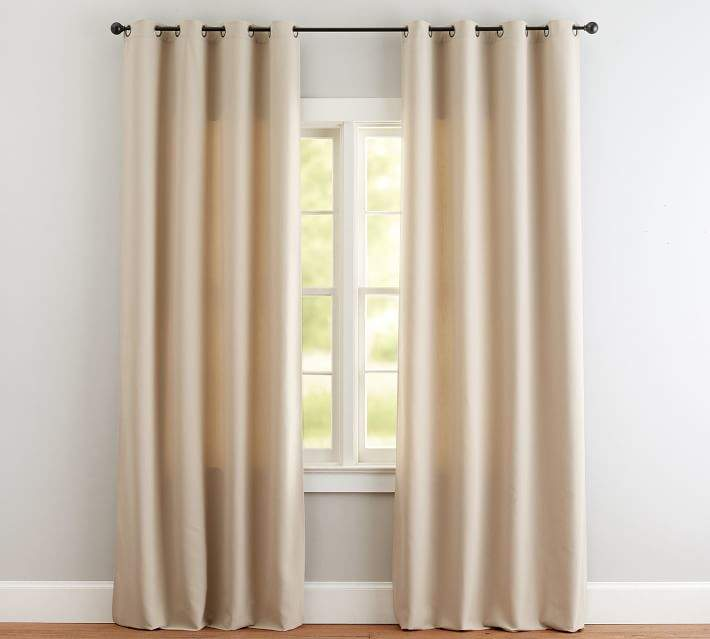 Indoor/Outdoor Grommet Drape - Stone