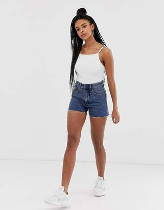 Cheap Monday Donna raw hem denim mom shorts