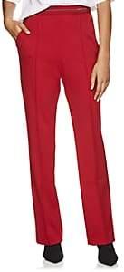 Prada Women's Logo-Waist Tech-Jersey Wide-Leg Pants - Red