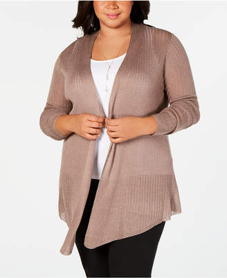 a36046704d0b0 Belldini Belle by Plus Size Pointed-Hem Open-Front Cardigan