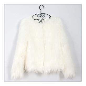 cc6beb7105698 Anghuluqub Furry Fur Coat Women Fluffy Warm Long Sleeve Female Outerwear  Autumn Winter Coat Jacket Hairy