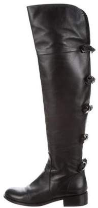Valentino Leather Bow-Accented Boots