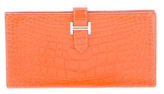 Hermes Alligator Bearn Wallet