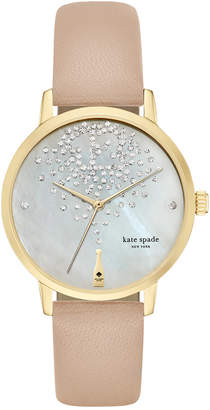 Kate Spade Women's Metro Tan Vachetta Leather Strap Watch 34mm KSW1015