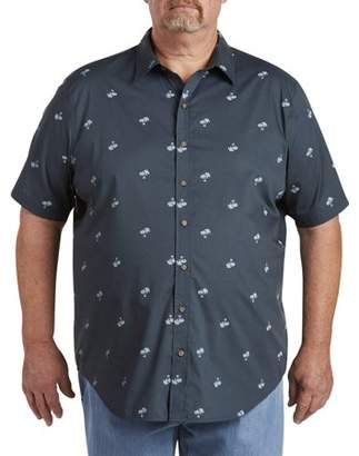 555 Turnpike Men's Big & Tall Easy Care Short Sleeve Plaid Shirt, up to size 7XL