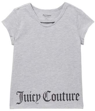 Juicy Couture Glitter Logo Tee (Big Girls)