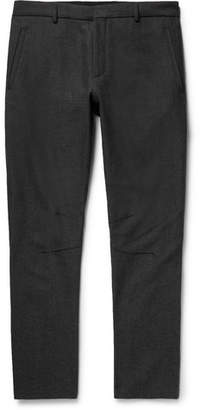 Lanvin Skinny-Fit Herringbone Wool And Cotton-Blend Biker Trousers
