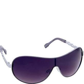 Rocawear Women's R574 SLVGY Shield Sunglasses