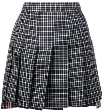 Thom Browne Tartan School Uniform Miniskirt