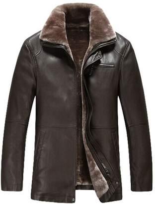 Men Winter Leather Coat Shopstyle Canada