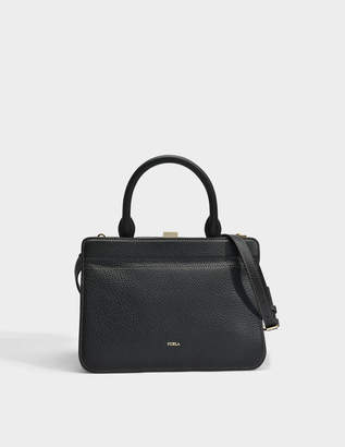 Furla Mirage Small Top Handle Bag in Onyx Calfskin