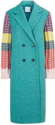 Mira Mikati Knitted Sleeves Coat