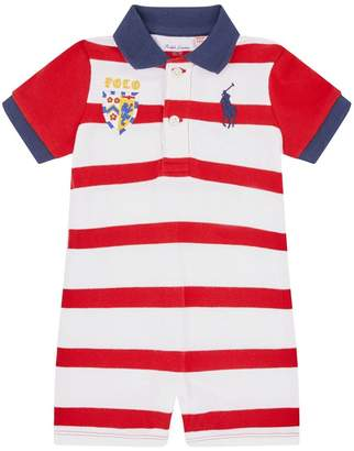Polo Ralph Lauren Stripe Polo Shirt Playsuit