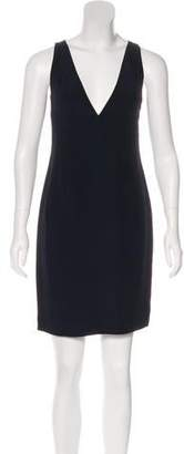 Richard Tyler Sleeveless Virgin Wool Dress