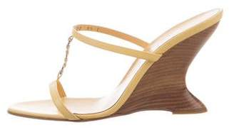 Salvatore Ferragamo Leather Wedge Sandals