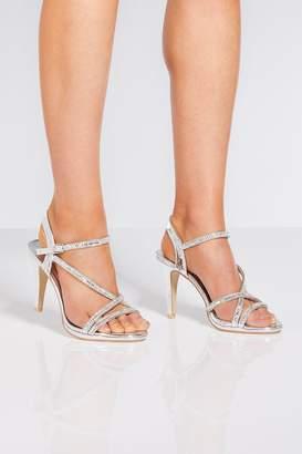 8f0edae5aad Diamante Ankle Strap Heels - ShopStyle UK