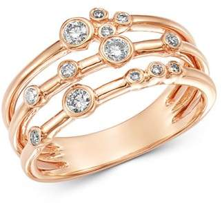 Bloomingdale's Diamond Bezel Set Multi-Row Band in 14K Rose Gold, 0.30 ct. t.w. - 100% Exclusive