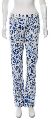 Current/Elliott DVF Loves Printed Mid-Rise Jeans