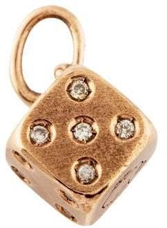 Dodo 9K Diamond Dice Charm