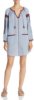 Joie Adelind Embroidery-Detail Cotton Dress $298 thestylecure.com