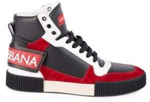 Dolce & Gabbana Miami High-Top Leather Sneakers