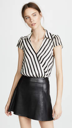 Alice + Olivia Dayer Drape Blouse