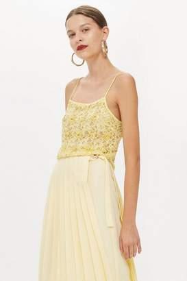 Topshop Lace Embellished Cami Top