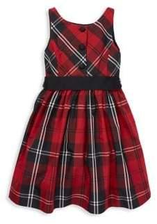 Ralph Lauren Little Girl's& Girl's Plaid Georgette Sash Dress