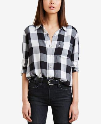 Levi's Buffalo Plaid Button-Front Shirt