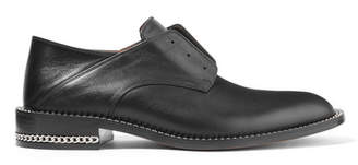 Givenchy - Chain-trimmed Collapsible-heel Leather Brogues - Black $895 thestylecure.com