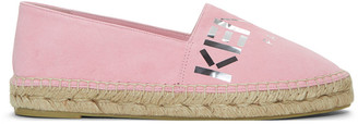 Kenzo Pink Suede Logo Espadrilles $240 thestylecure.com