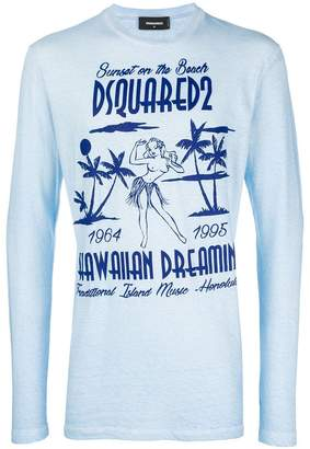 DSQUARED2 Hawaii logo patch sweatshirt