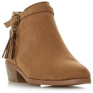Head Over Heels by Dune - Tan 'Palomma' Block Heel Ankle Boots