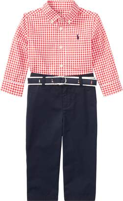 Ralph Lauren Gingham Shirt, Pant & Belt Set
