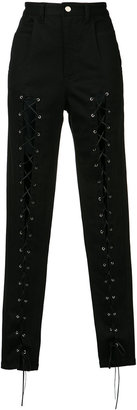 Sally Lapointe lace front trousers