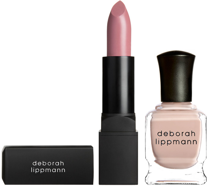Deborah Lippmann My Touch My Kiss Lipstick and Nail Polish Set