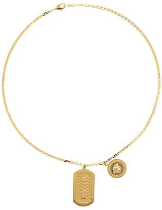 db492ede37934c Versace Men's Logo Plate Pendant & Medusa Charm Necklace